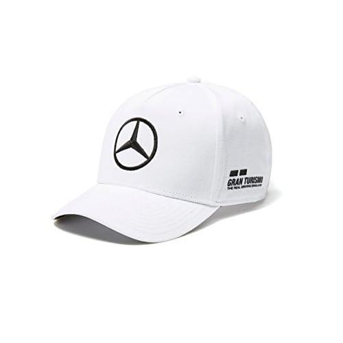 Mercedes AMG F1 Team Driver Puma Hamilton Baseball Cap White Official  2018(Size  One ec2fa4381251