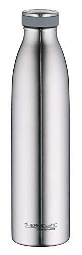 ThermoCafé by THERMOS 4067.205.075 Thermosflasche TC Bottle, Edelstahl mattiert 0,75 Liter, 12 Stunden heiß, 24 Stunden kalt, BPA-Free