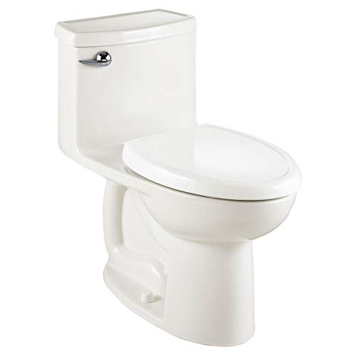 American Standard 2403128.020 Compact Cadet 3-FloWise Tall Height 1-Piece 1.28 GPF Single Flush Elongated Toilet with Seat, White