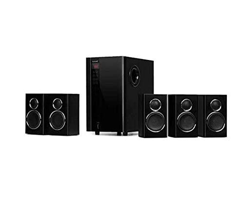 auna Areal Touch Juego de Altavoces 5.1 - Sonido Envolvente , Equipo de Sonido , 200 W , Subwoofer Tecnología OneSide Bassreflex , Táctil , Bluetooth , USB , SD , Mando Distancia , Negro