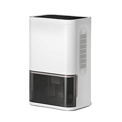 LUKO mini deumidificatore compatto e portatile 1800mL, tecnologia silenziosa a semiconduttori, purificatore d'aria e timer per casa, camera da letto, stanza, armadio, bagno, ufficio