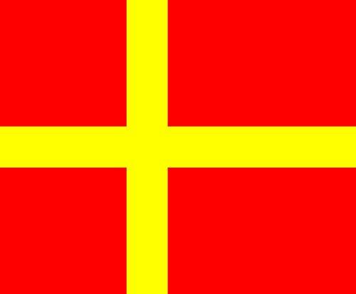 magFlags Flagge: Large Skåne | Skåne, Sweden | Skånes | Querformat Fahne | 1.35m² | 110x130cm » Fahne 100% Made in Germany