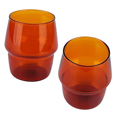TMCHK Copa para el hogar, fácil de Vidrio Material Apariencia Exquisita Copa de Vidrio para el hogar (Amarillo) Taza Cafe (Color : Yellow, Size : -)