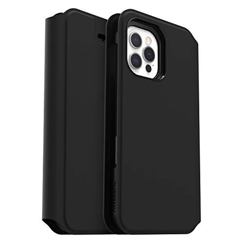 OtterBox Strada Via - sturzsichere Folio Schutzhülle für Apple iPhone 12 / 12 Pro, schwarz