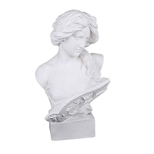 picaru Kunstharz-Büste, Statue, 7,5 cm, Gipsfiguren, Mini-Heimdekoration, Skulptur, weiß, für Kunst-Hobbyist-Artemis