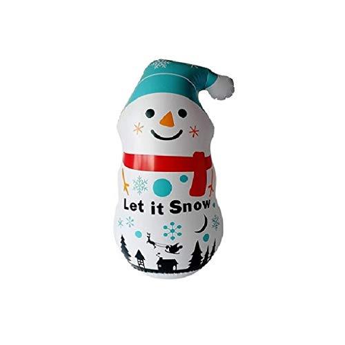 Hohaski Christmas Inflatable Snowman Tumbler PVC Santa Decoration Props sandbag Toy, Christmas Ornaments Advent Calendar Pillow Covers Garland Tree Skirt Gift Bags DIY