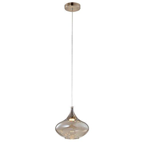 Pendente Khoi De Metal E Vidro Cobre E Transparente Bella Iluminação Khoi No Voltagev Cobre/ Transparente