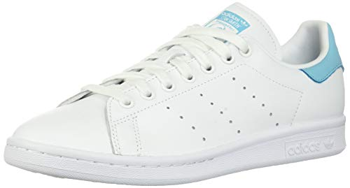 adidas Originals Men's Stan Smith, Footwear White/Footwear White/Blue Glow, 10.5 M US