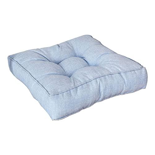 Larew Cojín acolchado para silla Cojín de asiento Cojín de silla Cojín acolchado Apoyo Sillón Cojines espesar cojines para jardín hogar oficina coche 40* 40* 9 cm (azul claro)