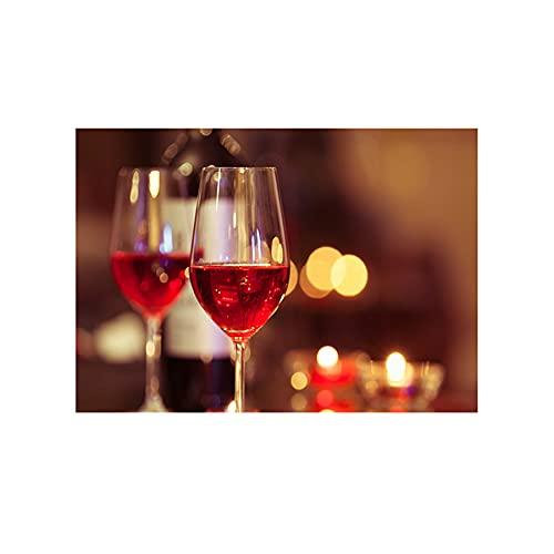 YINGFUN Modernos carteles abstractos para copas de vino y estampados para verter vino, lienzo decorativo para pared, decoración del hogar (color: B, tamaño: 50 x 70 cm, sin marco)