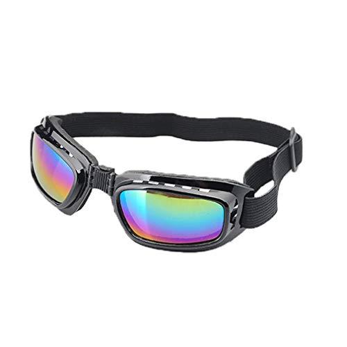 WEQQ Gafas de Moto Gafas de Sol polarizadas para Ciclismo de día y Noche Gafas de Sol Gafas (Lentes de Color de Montura Negra)