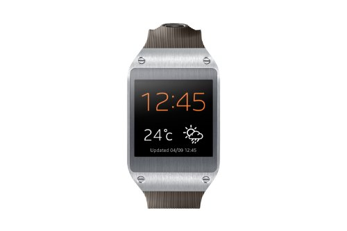 Samsung Galaxy Gear V700 Smartwatch (4,14 cm (1,63 Zoll) SAMOLED-Display, 800 MHz, 512MB RAM, Android 4.3) grau