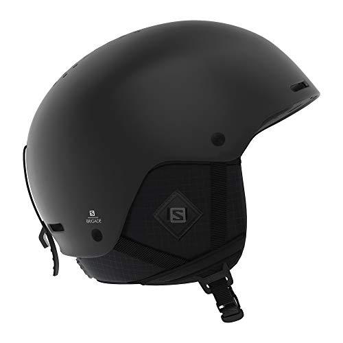 Salomon Herren Ski- und Snowboardhelm, ABS-Schale, SMART-Technologie, Größe M, Kopfumfang 56-59 cm, Brigade+, schwarz (All Black), L40536800