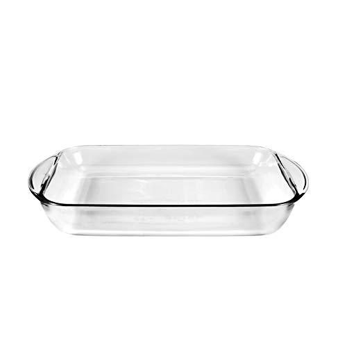 Olla rectangular para horno con asas, resistente al calor, 3,85 litros, 40 x 25 x 6 cm