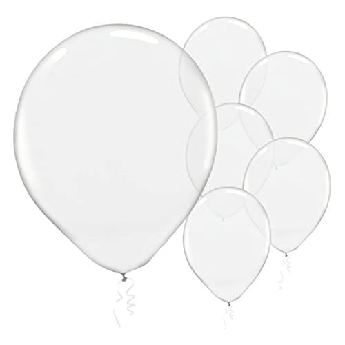 d8dd8020a491f Solid Color Latex Balloons - Clear Transparent Color, Pack of 72, Party  Decor