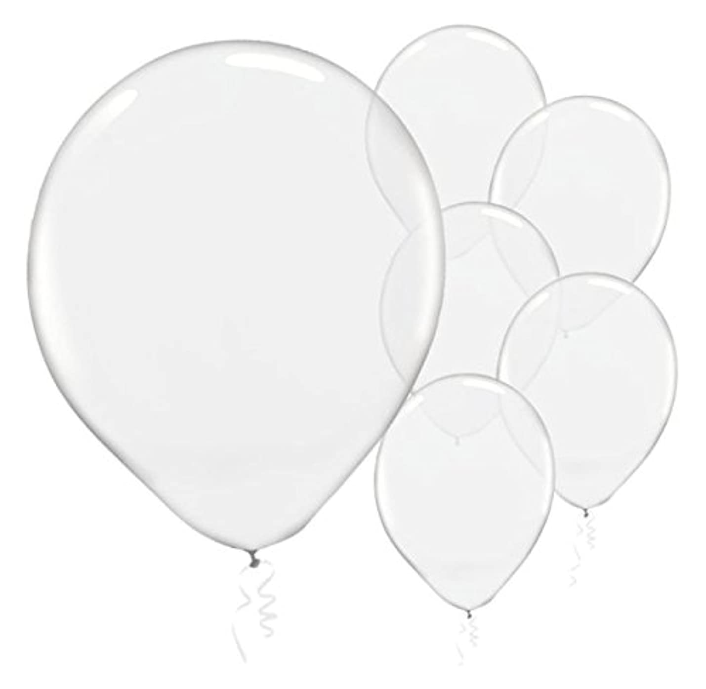 Solid Color Latex Balloons - Clear Transparent Color, Pack of 72, Party Decor ywtnhpcicainl574