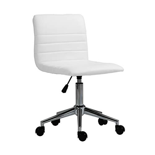 SVITA Linus Schreibtischstuhl Kinder Drehstuhl Kunstlederbezug Weiß