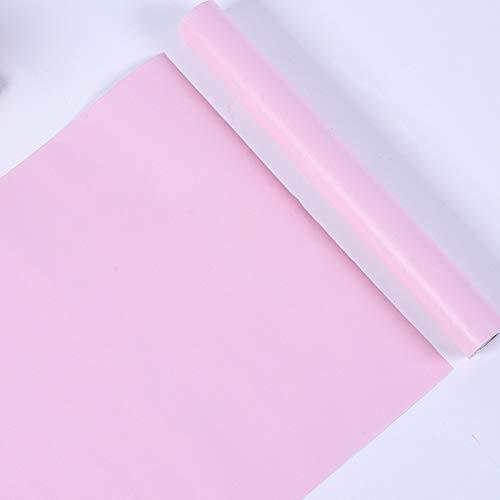 LZYMLG Einfarbig selbstklebend diy tapete schlafzimmer schlafsaal kinderzimmer dekoration tapete wohnzimmer wanddekoration aufkleber Pink