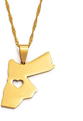 The Hashemite Kingdom Of Jordan Men S Pendant Necklace/Men S Golden Jewelry Gift #005621