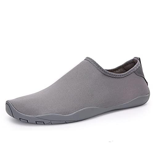 YQQMC Zapatos de agua Calcetines de agua para mujer al aire libre, playa, natación, surf, yoga, piscina, ejercicio, parque acuático, zapatos transpirables (color: gris, tamaño: 41EU)
