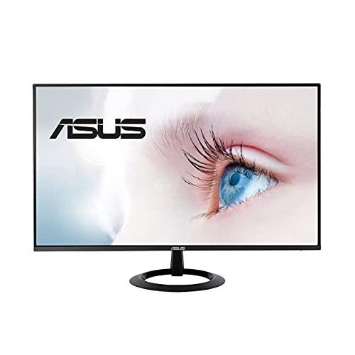 "ASUS 27"" 1080P Monitor (VZ27EHE) - Full HD, IPS, 75Hz, 1ms, Adaptive-Sync/FreeSync, Low Blue Light, Flicker Free, Ultra-Slim, VESA Mountable, Frameless, HDMI, VGA"