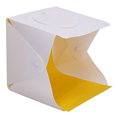 BOTEGRA Caja de luz de Caja de luz para fotografía, Buena disipación de Calor Fácil de Disparar Desde Arriba Tela Altamente Reflectante Puerto USB Mini Caja de luz LED para Disparar