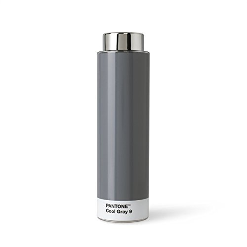 Pantone Trinkflasche, Tritan, Edelstahl, Cool Gray 9, 6.2 x 6.2 x 22 cm
