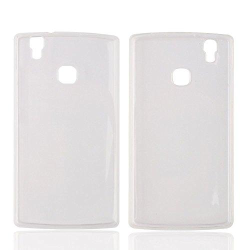 Prevoa ® 丨 Doogee X5 MAX Funda - Transparent Silicona TPU Protictive Carcasa Funda Case para Doogee X5 MAX / X5 MAX Pro Smartphone - Blanco