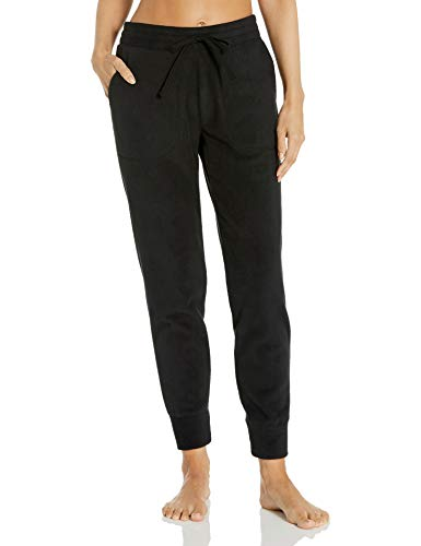 Amazon Essentials Women's Polar Fleece Ankle Length Jogger Sweat Pant with Pockets, Black, Medium