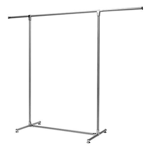 JTRHD Rack de lavandería para Ropa Rack Telescopic Secking Poot Hanger Balcony Interior Pole Pudillo Interior y Exterior (Color : Silver, Size : One Size)