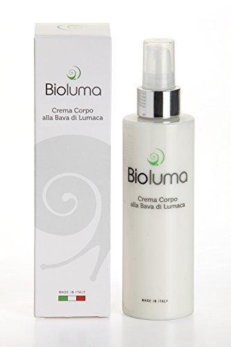 Bioluma Bava di Lumaca Crema Corpo 200ml con Acido Ialuronico Olio Argan...