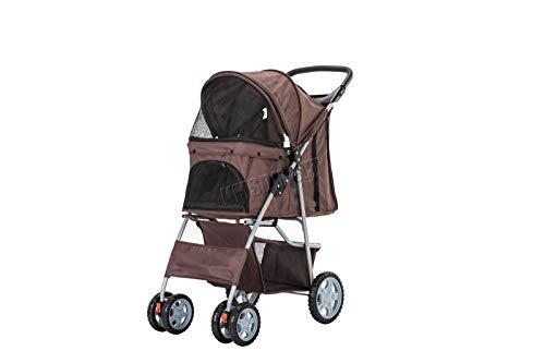 FoxHunter New Dog Pram | Pet Dog Cat Animal Stroller | Dog Buggy For Traveling | Travel Vet Stroller...