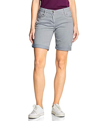 Cecil Damen 372198 New York Loose Fit Shorts, cool Silver, W33(Herstellergröße:33)