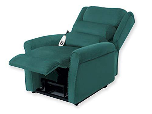 GIMA SILLÓN ELEVABLE GINEVRA 2 motores - Verde. Sillón con sistema de elevación motorizado. Alcanza la posición de la cama garantizando una sesión relajante.