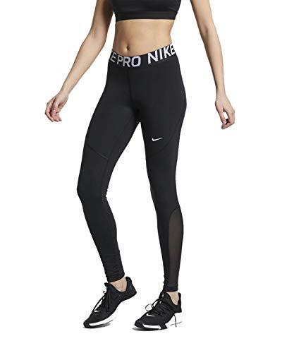 Nike PRO, Leggings Sportivi Donna, Nero (Black/White 010), 40 (Taglia Produttore: Small)