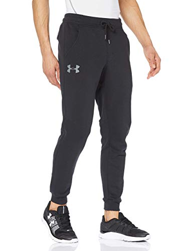 Under Armour Rival Fitted Tapered Jogger Pantalón Largo, Hombre, Negro (001), L