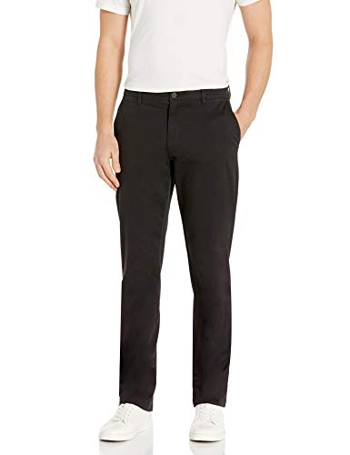 Goodthreads Men's Straight-Fit Washed Stretch Chino Pant, Black, 36W x 32L