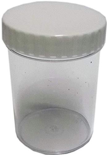 200 ml-Contenitori in plastica con coperchio a vite, confezione da 10 pezzi