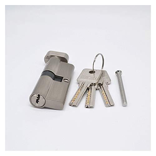 SONGYG Bombin Cerradura Cilindro de Bloqueo de Puerta de latón Negro de 70 mm con 3 Llaves de la computadora de latón Cilindro de Seguridad para el hogar antirrobo con perillas