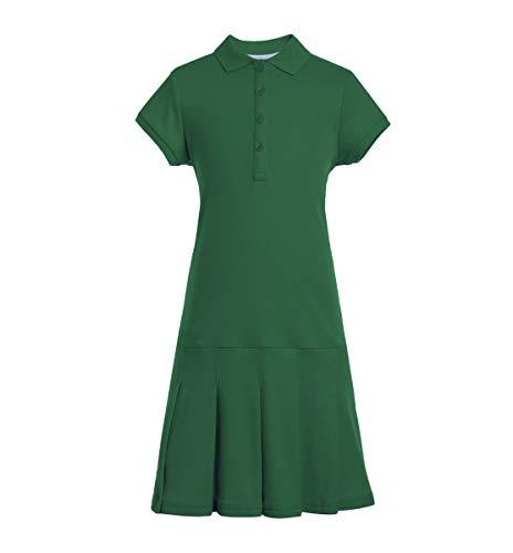 Tommy Hilfiger Mädchen Short Sleeve Girls Interlock Polo Dress Kleid, Hunter, Mittel