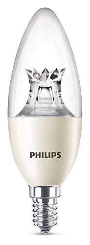 Philips 8718696555972 A+, LED-Leuchtmittel, Plastik, 8 W, E14, klar, 4 x 4 x 10.8 cm