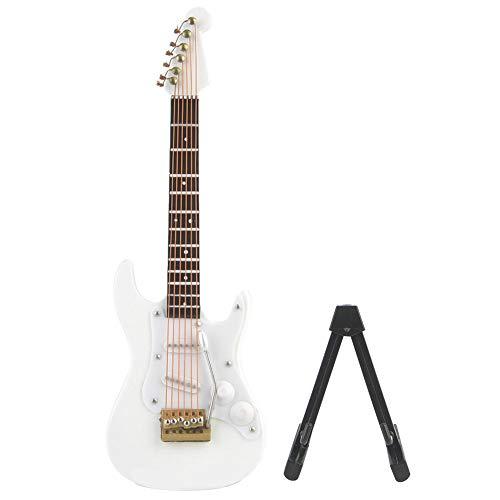 FTVOGUE 14 cm delicaat hout mini elektrische gitaar model met standaard display decoratie huis koffie huis ornament 4 kleuren