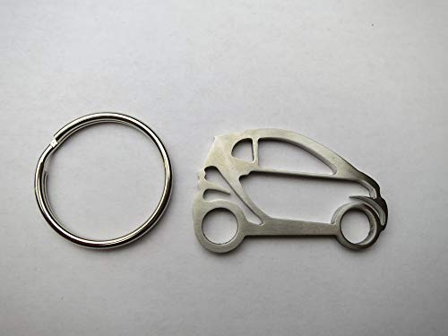 B2 Fabrication Stainless Steel Smart Car ( smart fortwo ) Silhouette Key Chain