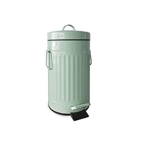 GWFVA Prullenbak, prullenbak, brievenbus retro vorm, decoratieve vuilnis, bar, koffiehuis, afval, keuken, bad, pedaal type, vuilnis (kleur: wit)