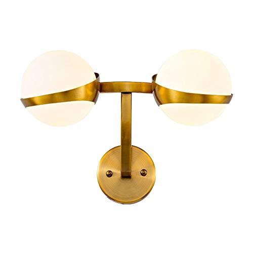 CNCDRS Pared del accesorio de iluminación nórdica 2-luces moderno minimalista LED bola creativa lámpara de pared lámpara de pared de la sala de pasillo Escalera Balcón dormitorio lámpara de cabecera d