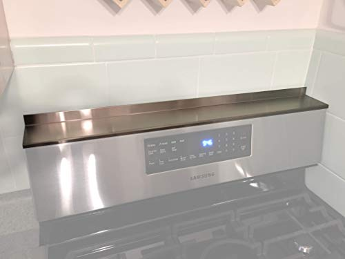 Stainless Steel Magnetic Mount Stove Spice Shelf 5 x 30