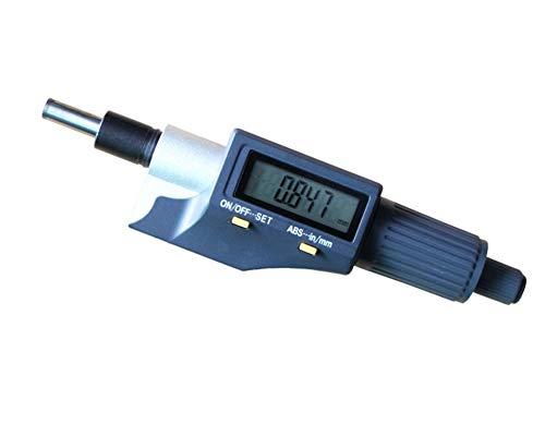 SPEDGSDW Aguja micrómetro la Cabeza de 0-25mm/0,001mm Medida Herramienta con moleteado Mando de Ajuste de micrómetro la Cabeza medición de