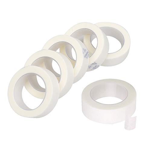 6 Rollen Tape Wimpernverlängerung, Klebeband Wimpernverlängerung, Wimpernklebeband für Wimpern Lash Extension, Lint Free