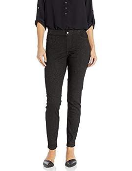 HUE Women s Sparkle Tux Denim Leggings Black Medium