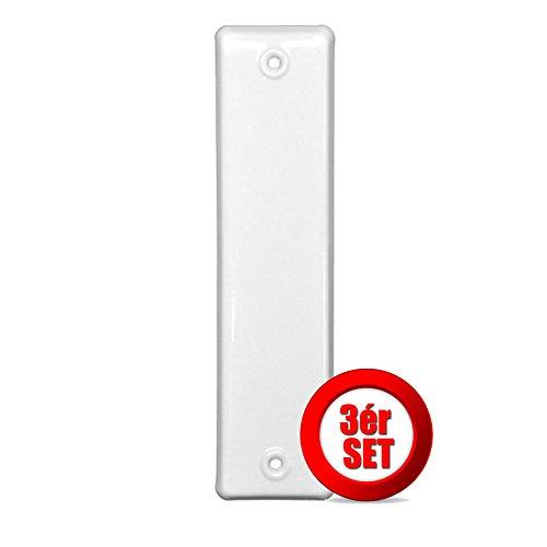 Gurtwicklerblende Rolladengurt-Abdeckung, geschlossen, Weiß, Lochabstand 160 mm, 3 Stück